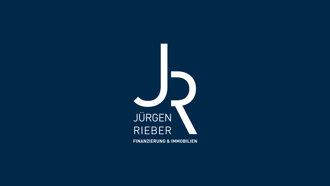 Logo von Jürgen Rieber mit den Buchstaben J und R stilisiert in weisser Schrift auf blauem Hintergrund
