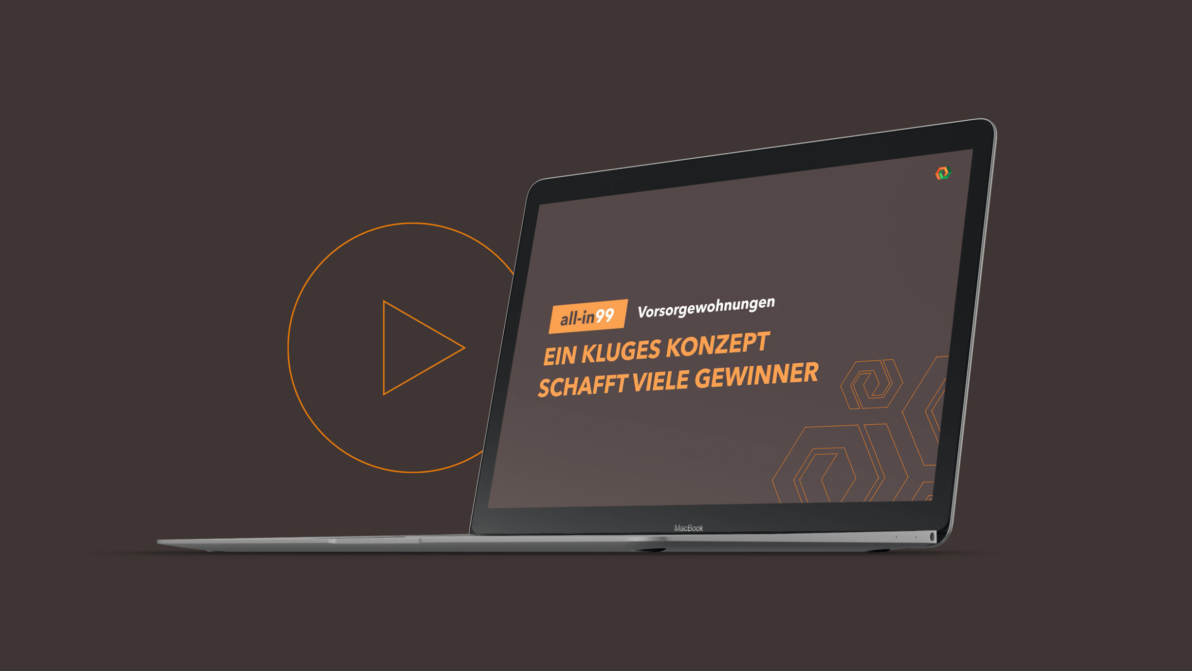 Laptop mit wert.bau Bild Kluges Konzept schafft viele Gewinner Video